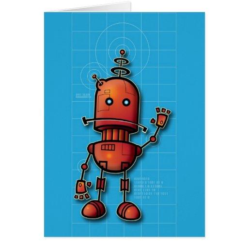 Robot hola felicitaciones