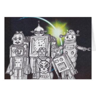 Robot Holiday 13 Card