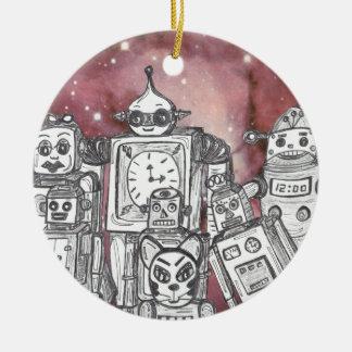 Robot Holiday 1 Ceramic Ornament