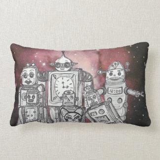 Robot Holiday 1 Throw Pillow