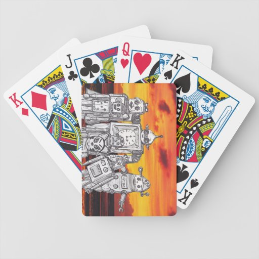 Robot Holiday 3 Bicycle Poker Cards