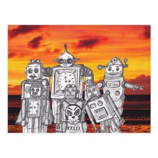 Robot Holiday 3 Postcard