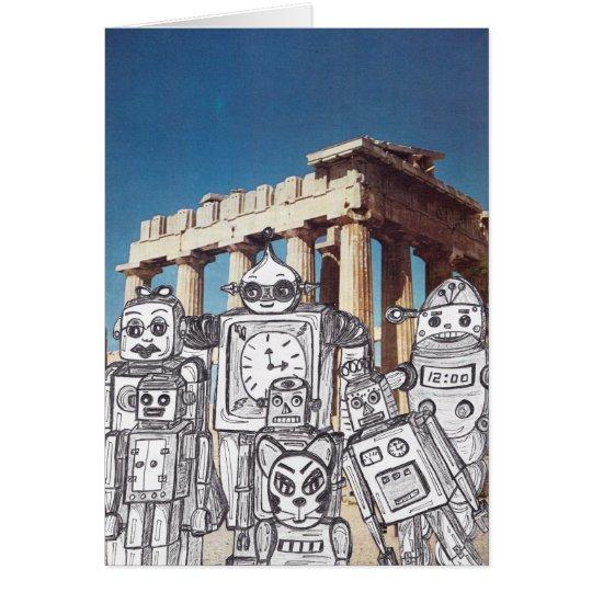 Robot Holiday 4 Card