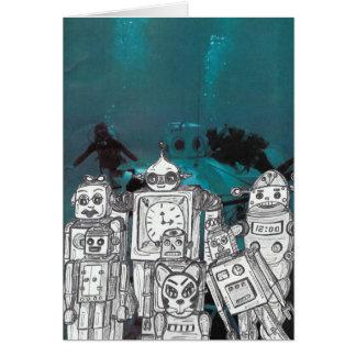 Robot Holiday 5 Card