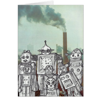 Robot Holiday 6 Card