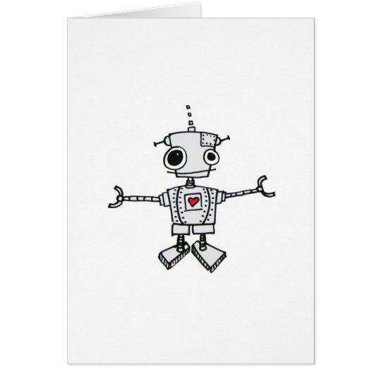 Robot hug card