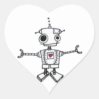 Robot hug stickers