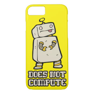 Robot Humor - Does Not Compute iPhone 7 Case