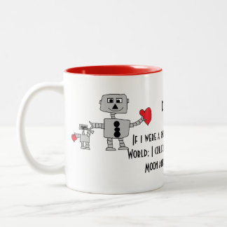 Robot I love Daddy Mug