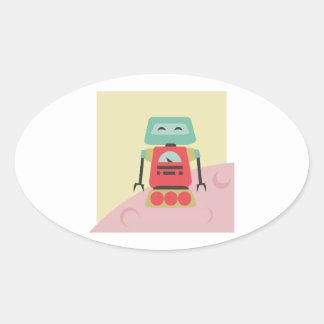 Robot I Oval Sticker