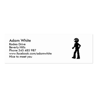 Robot icon mini business card
