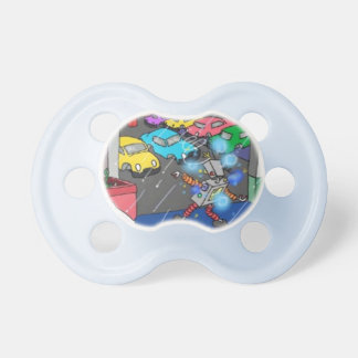 Robot in a Spin blue pacifier/dummy 0-6mth Pacifier