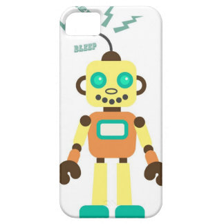 Robot in Yellow Orange and Green iPhone 5 Cover
