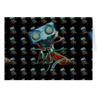 Robot inspirado tarjeta de felicitación