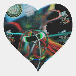 Robot Inspired Heart Sticker