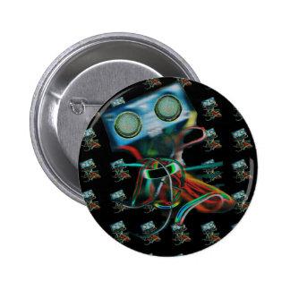 Robot Inspired Pinback Button
