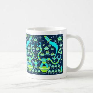 Robot Invasion Classic White Coffee Mug