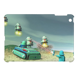 Robot Invasion From Above V1 iPad Mini Case
