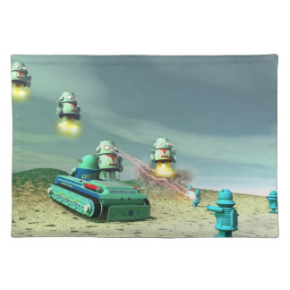 Robot Invasion From Above V1 Placemat