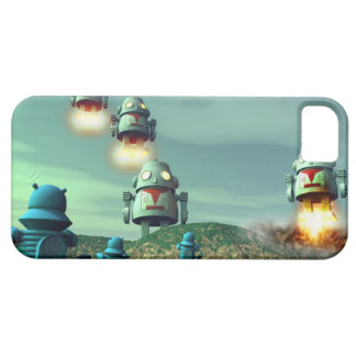 Robot Invasion From Above V2 iPhone SE/5/5s Case