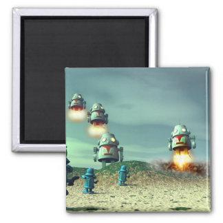 Robot Invasion From Above V2 Magnet