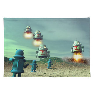 Robot Invasion From Above V2 Placemat