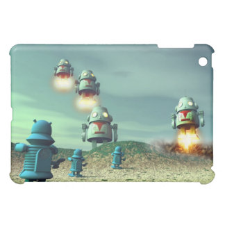 Robot Invasion From Above V2 Speck Case iPad Mini Cases