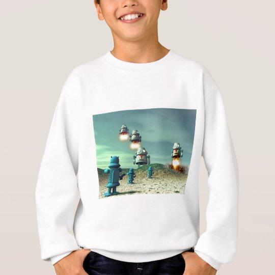 Robot Invasion From Above V2 Sweatshirt