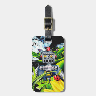 Robot Invasion - Science Fiction Artwork Luggage Tag