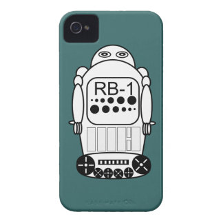 Robot iPhone 4s Cases Blue and White