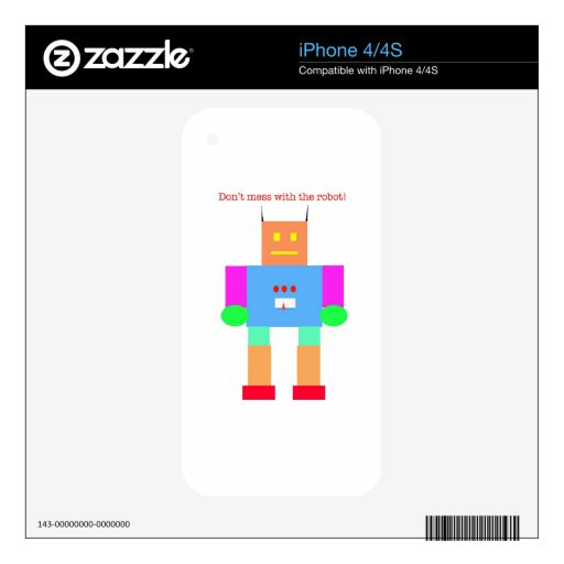 robot iPhone 4S decal