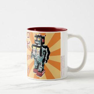 Robot japonés 1 del juguete taza de café