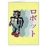 Robot japonés 2 tarjeton