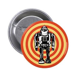 Robot japonés retro pin redondo 5 cm