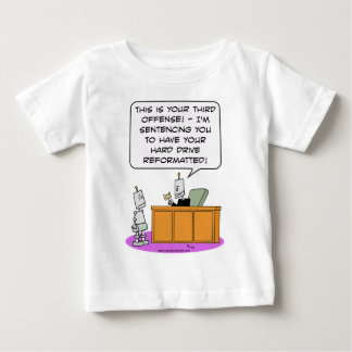 robot judge sentence hard drive reformatted baby T-Shirt