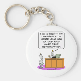 robot judge sentence hard drive reformatted keychain