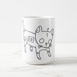 robot kitten mug
