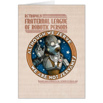 Robot Labor Union Greeting Card