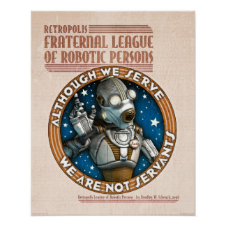 "Robot Labor Union poster (16x20"")"