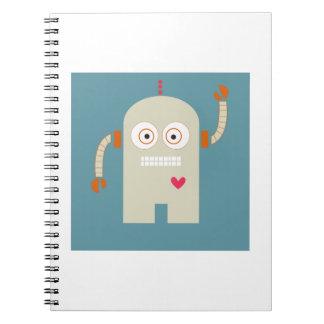 Robot Libro De Apuntes Con Espiral