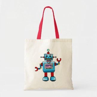 Robot lindo bolsas de mano