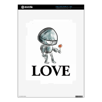 Robot lindo con una flor iPad 2 skins