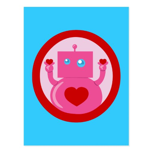 Robot lindo del amor postales