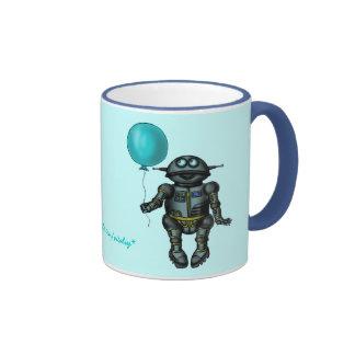 Robot lindo divertido con diseño de la taza de
