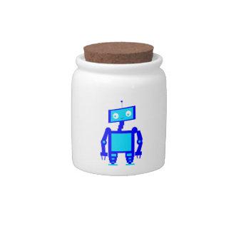 Robot lindo plato para caramelo
