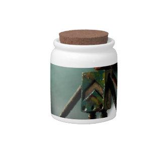 Robot lindo jarras para caramelos