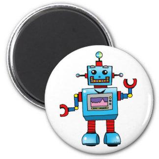 Robot lindo imán redondo 5 cm