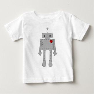 Robot lindo playera de bebé