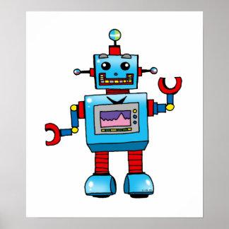 Robot lindo póster