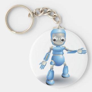 Robot lindo que señala algo llaveros